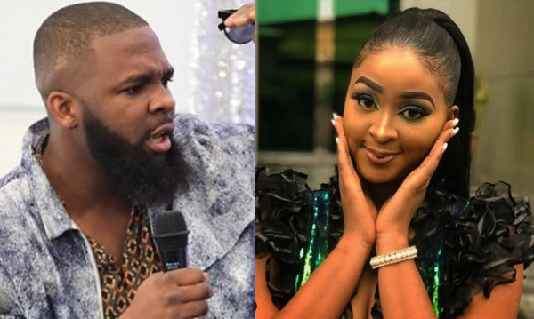 Oyemykke calls Etinosa an 'apologetic nudist' for saying she can't date him because he shouts too much