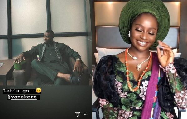 Exclusive: Actor Emmanuel Ikubese and Toke Makinwa's makeup artist, Anita are holding their introduction ceremony