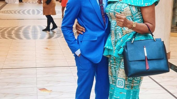 Actor Denola Grey shares his mother's inspiring story after he was pictured supporting her at WIMBIZ