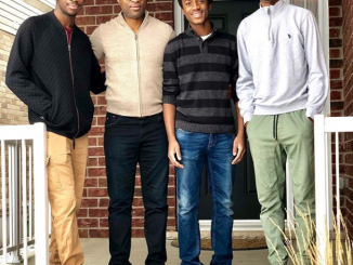 Omoni Oboli celebrates her husband and their three sons on International Men's Day (Photo)