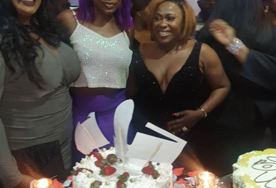 Pregnant Mercy Johnson, Rita Dominic, Kate Henshaw, others turn up for Uche Jombo's 40th birthday party (Photos)