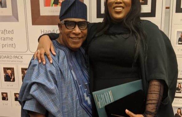 Actor Adebayo Salami's daughter graduates from UK university