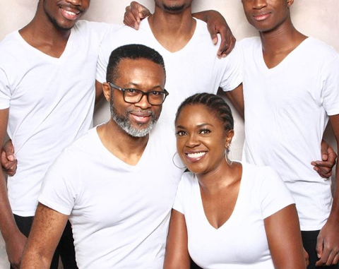 Actress Omoni Oboli celebrates Valentine's Day with beautiful family photo