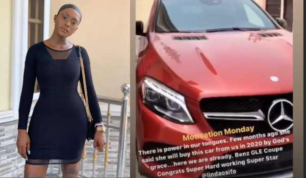 Actress Linda Osifo buys a new Mercedes Benz (videos)