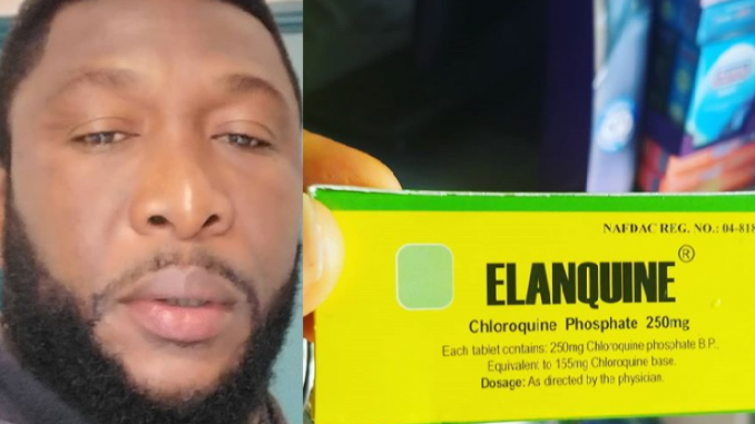 """""""Naija and exploitation"""" Tchidi Tchikere complains as the price of Chloroquine spikes to almost six times the usual cost after it was rumoured to treat coronavirus"""