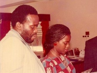 Throwback photo of Olu Jacobs and wife Joke Silva as a young couple