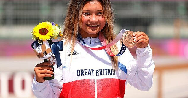 Sky Brown, 13, becomes Britain's youngest Olympic medallist after winning bronze