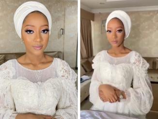 Yusuf Buhari's fiancé, Zahra Bayero looks gorgeous in white for a premarital coaching session (video)