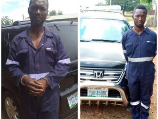 Man nabbed in Nasarawa with car stolen from Kogi