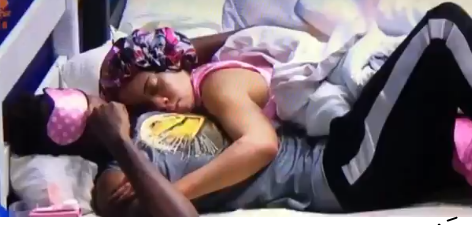 BBN housemates, Miracle and Nina resolve their issues, sleep on each other's arm (video)