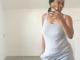 Georgina Onuoha goes braless as she steps for a morning walk