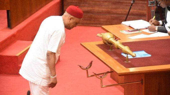 Stolen mace returned to the Senate (photos)
