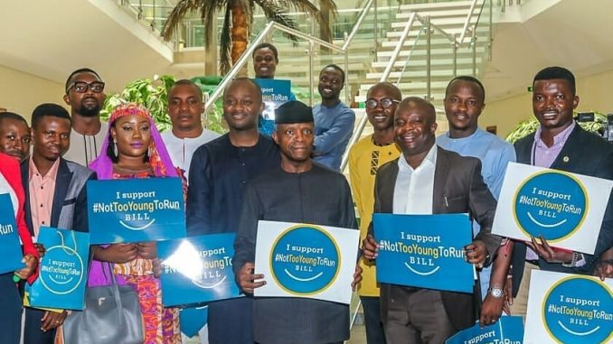 ''Let's allow youths to contest elective positions'' VP Yemi Osinbajo says