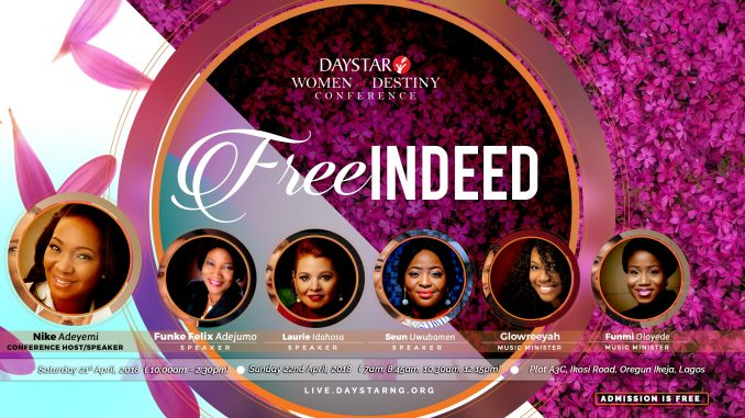Join Nike Adeyemi, Funke Felix-Adejumo, Glowreeyah, more at the Women of Destiny Conference 2018