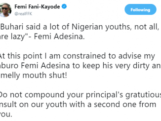 ''Keep your very dirty and smelly mouth shut'' FFK tells Femi Adesina