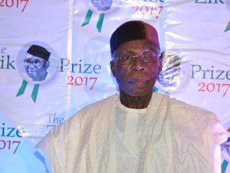 Audu Ogbeh bags Zik Prize Leadership Award, dedicates award to the Nigerian farmer