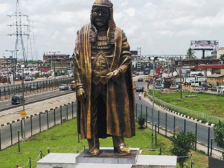 Photos: Lagos State unveils new statue of Chief Gani Fawehinmi in Ojota