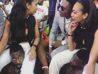 Interesting photos of TBoss & Bally at the BBNaija live show party in Lagos (photos)