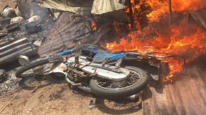 Photos: Troops destroy Boko Haram training camp, kill one insurgent