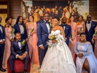 Photos: Osinbajo, Dangote, Bola Shagaya, Otedola, Ita-Giwa, Omotola Jalade-Ekeinde, Erelu Abiola Dosunmu, others at Donald Duke's daughter's wedding