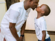 Cute photo of Nigerian father kissing his son