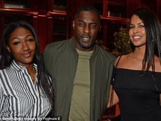 Idris Elba parties with his daughter Isan, and fiancée Sabrina at Formula E bash (Photos)