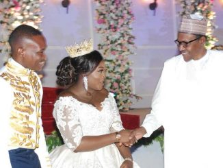 Photos: President Buhari, Tinubu, Saraki, others attend wedding reception of SGF Mustapha Boss' daughter, Amanda