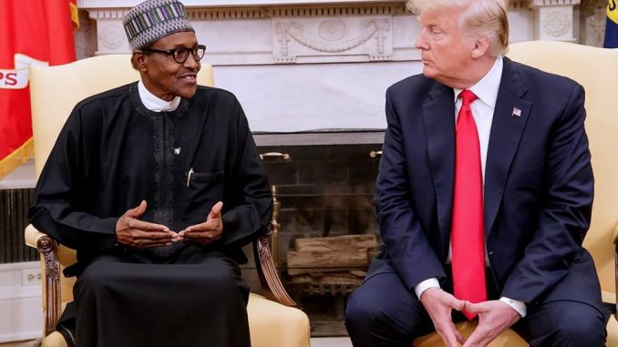 Photos from President Buhari's meeting with US President Donald Trump