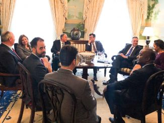 Photos: President Buhari meets with US Businessmen, calls for more investment in Nigeria
