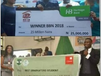 Big Brother Naija winner vs Best Graduating student with first class of 4.88 from UNN (Photos)