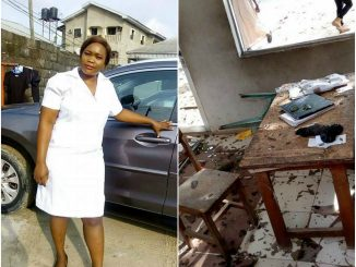 Novena University students protest death of one of their colleagues(photos)