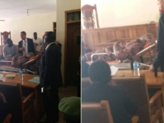 Ben Bruce reacts to Dino Melaye's re-arrest, shares photos of Dino being arraigned in court today on a stretcher