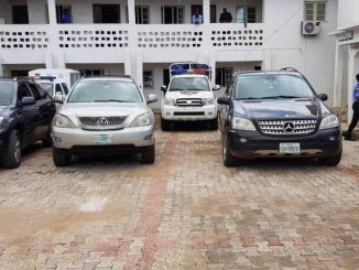Photos: Exotic cars recovered from car snatching syndicate in Anambra