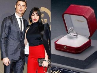 Cristiano Ronaldo reportedly engages girlfriend Georgina Rodriguez with 'Cartier diamond engagement ring' worth N300m (Photos)