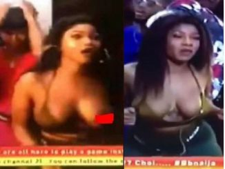 BBNaija housemate, Tacha suffers nip slip during Saturday night party (Photos)