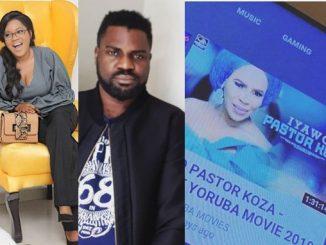 COZA: Toyin Abraham and Yomi Black react to 'Iyawo Pastor KOZA' nollywood movie
