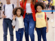 Regina Daniels jets out with her stepchildren for vacation (Photos)