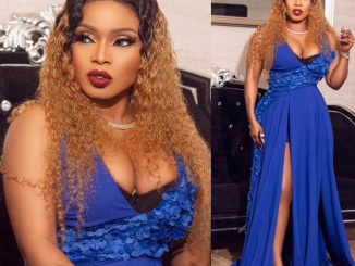 Halima Abubakar flaunts cleavage in new stunning photos