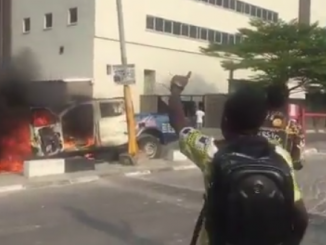 Xenophobia: Lagos protester allegedly shot dead, mob burns van