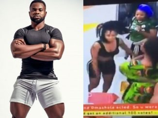 BBNaija: Kemen shares a photo of BBNaija rule book after Mercy and Tacha's clash.......see who gets disqualified