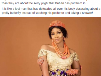 ''Nigerians are more concerned about the fate of Big B Naija's #Tacha than they are about the sorry plight that Buhari has put them in'' FFK