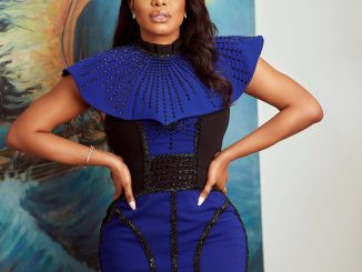 Actress Chika Ike's stunning look at the Impart Artist fair in Lagos (photos)