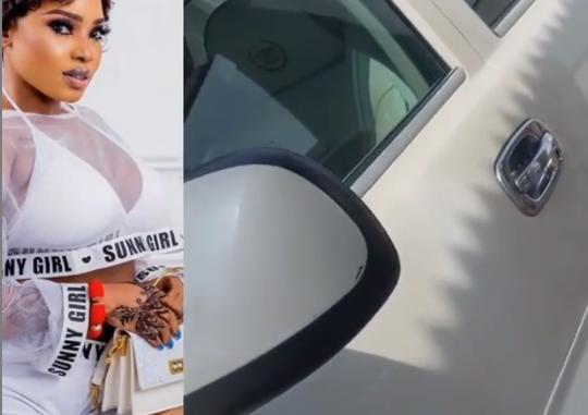 Nollywood actress Halima Abubakar shows off her new whip, Escalade EXT (Video)