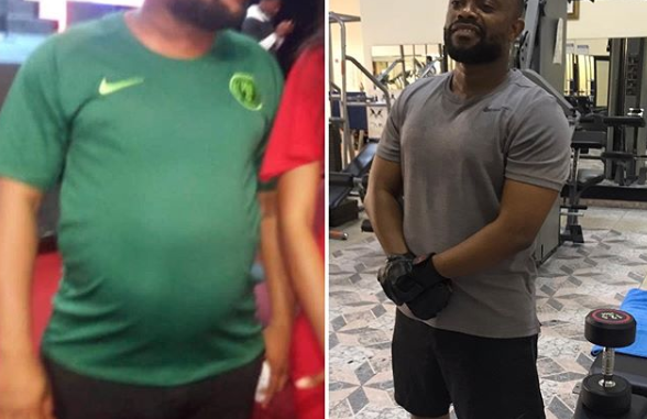Wow this cannot be Okon Lagos... What happened to his pot belly?