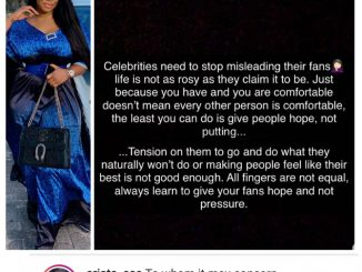 Celebrities need to stop misleading their fans, life isn't as rosy as they claim- BBNaija fake housemate, Ese Eriata rants on IG