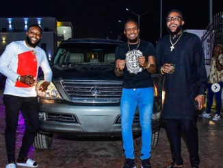 Actor Junior Pope gets a car gift from E-Money and Kcee (photos)