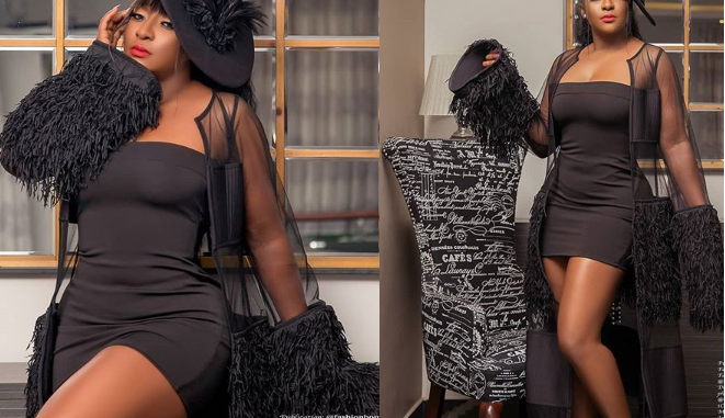 'Just look at the perfection and beauty of God's work' - Ini Edo says as she flaunts her banging body amidst plastic surgery rumours