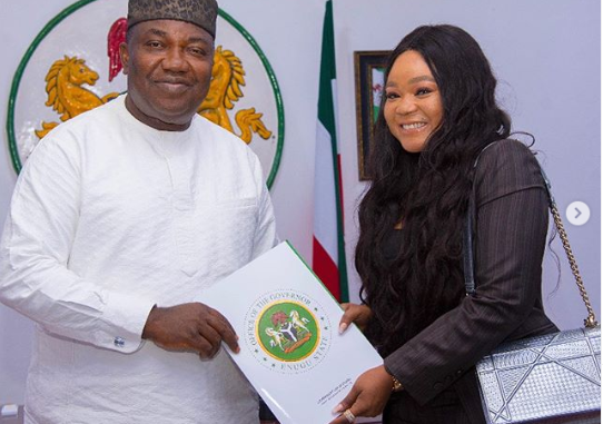 Actress Rechael Okonkwo appointed as Ambassador on Youth Development in Enugu State by Governor Ugwuanyi