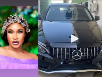 Tonto Dikeh gets a new car gift from a friend on her birthday (video)