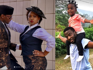 Nollywood actor, John Njamah and his Cameroonian wife Angwi Tangi celebrate 4th wedding anniversary and their daughter's 3rd birthday